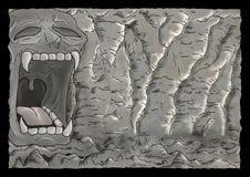 Mystery cavern illustration Stock Image