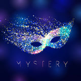 Mystery celebrating vector mask. Royalty Free Stock Images