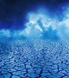 Mystery clouds over drought earth Stock Photo
