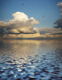 Mystery cloudscape and its reflection Royalty Free Stock Photos