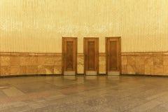 3 Mystery Doors royalty free stock image