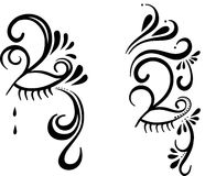 Mystery face paint. A illustration of mystery face paint Royalty Free Stock Images