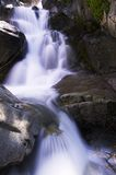 Mystery Falls. This beautiful seasonal water fall is in the High Sierra stock images