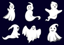 Mystery ghosts. Set of ghosts for design isolated on background Royalty Free Stock Photos