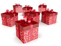 Mystery gift with clipping path Stock Photos