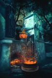 Mystery Helloween landscape Royalty Free Stock Image