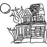 Mystery house coloring pages Royalty Free Stock Photos