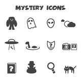 Mystery icons Stock Image