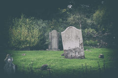 Mystery Irish cemetery Royalty Free Stock Photos