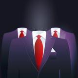 Mystery leadership. Headless elegant suits for leaders. Mystery leadership stock illustration