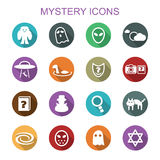 Mystery long shadow icons Royalty Free Stock Images