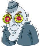 Mystery Man Eyes. A cartoon mystery man with hypnotic eyes Royalty Free Stock Photo
