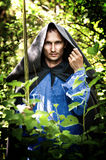 Mystery man with medieval sword. Fantasy foto of handsome mystery man with medieval sword Royalty Free Stock Images