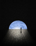 Mystery Man in Tunnel Stock Photography