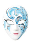 Mystery mask. Creative painted female mask isolated over white stock photos