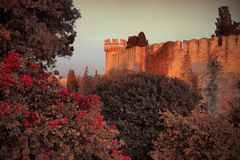 Mystery medieval castle Royalty Free Stock Images