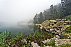 Mystery picture of Laquette in Neouvielle Massif in fog Stock Photography