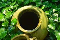 Mystery Pottery Pot Dark Hole Stock Photo