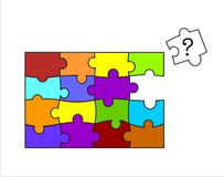 Mystery Puzzles. Puzzles puzzle for children guess no background color royalty free illustration