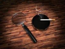 Mystery scene. 3d render of a mystery scene Stock Images