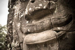 The mystery smiling of Bayon. Royalty Free Stock Image