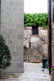 Mystery stairs to garden in Kotor Royalty Free Stock Photography