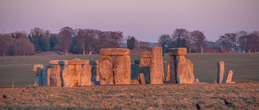 The mystery of Stonehenge in England stock photo