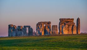 The mystery of Stonehenge in England. Travel photography stock photos