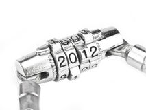 The mystery of two thousand and twelve year (2012). 2012 blocade four number code Stock Photos
