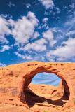 Mystery Valley, Monument Valley Arch, Arizona Stock Images