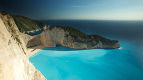 Mystery of Water - Shipwreck on Navagio Beach Royalty Free Stock Images