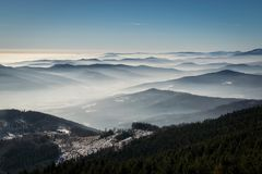 Mystery winter mountains Royalty Free Stock Image