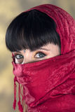 Mystery Woman. Beautiful woman wearing a veil Royalty Free Stock Photography