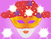 Flowers woman Royalty Free Stock Image
