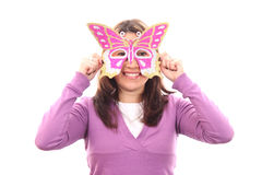 Mystery woman in the mask Royalty Free Stock Photography
