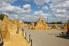"""""""Mystery of the world"""".  sand Sculpture Festival. Stock Photography"""