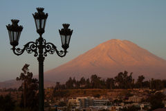 Mysti Volcano. Mount Mysti in Arequipa Peru Royalty Free Stock Image