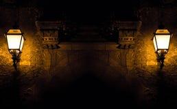 Mystic antik ingång arkivbilder