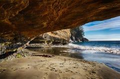 Mystic Beach Cave Stock Photos
