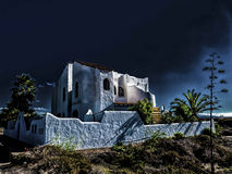 Mystic beach house at the Atlantic Ocean. Royalty Free Stock Photos