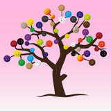 Mystic button tree with color buttons for clothing Royalty Free Stock Photos