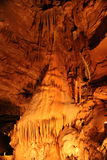 Mystic Caverns - Stalactites and Stalagmites - 12. Stalactites and Stalagmites (mineral formations) in caves at Mystic Caverns in Harrison, Arkansas royalty free stock photos