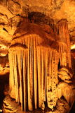 Mystic Caverns - Stalactites and Stalagmites - 6. Stalactites and Stalagmites (mineral formations) in caves at Mystic Caverns in Harrison, Arkansas royalty free stock photography