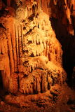 Mystic Caverns - Stalactites and Stalagmites - 4. Stalactites and Stalagmites (mineral formations) in caves at Mystic Caverns in Harrison, Arkansas royalty free stock photos