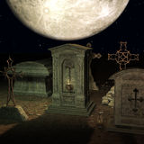 Mystic Cemetery Stock Image