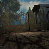 Mystic Cemetery. 3D Render of an Mystic Cemetery vector illustration