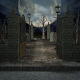 Mystic Cemetery Stock Photography