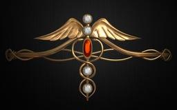 Mystic circlets (Kaduceus 2) Royalty Free Stock Photo