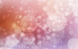 Mystic color abstract background with stars, circle bokeh Royalty Free Stock Photo
