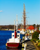 Mystic, Connecticut. Beautiful Mystic, Connecticut in fall Stock Photos